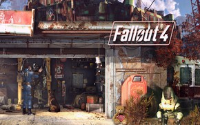 Picture dog, station, the atmosphere, Armor, equipment, Bethesda Softworks, Bethesda Game Studios, Fallout 4, Power Armor, …