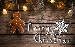 Picture Board, man, christmas, garland, snowflake, merry christmas, decoration, gingerbread