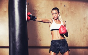 Wallpaper pose, workout, Boxing, figure, training, gym, training, gym, pear, Boxing, gloves