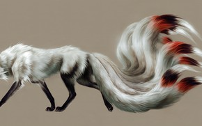 Picture Fox, nine-tailed, by toedeledoki