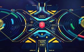 Picture graphics, panel, management, remote, Alien-ish Interface