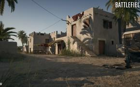 Picture palm trees, home, settlement, Battlefield 1, Suez