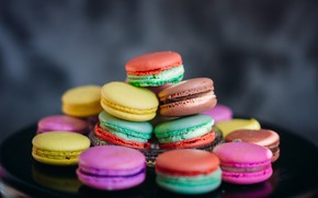 Picture colorful, cookies, macaroons