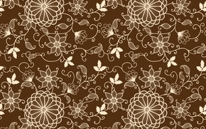 Picture texture, floral, seamless background