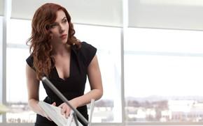 Wallpaper Scarlett Johansson, Actress, Hero, Movie, Scarlett Johansson, Superhero, Hero, The film, Red, Iron man 2, ...