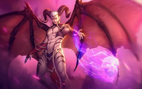 Picture the game, the demon, art, guy, Heroes of Newerth