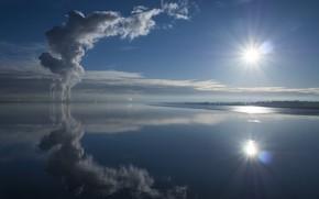 Picture landscape, nature, lake, reflection