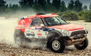 Picture Auto, Mini, Sport, Machine, Speed, Race, Squirt, Gravel, Car, Rally, SUV, Rally, X-Raid Team, MINI …