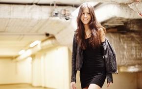 Picture smile, dress, jacket, cutie, Ksusha