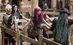 Picture cinema, girl, boy, movie, musical, film, witch, Maleficent, Jafar, Descendants 2, Descendants