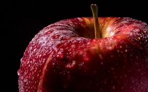 Wallpaper red, Apple, drops
