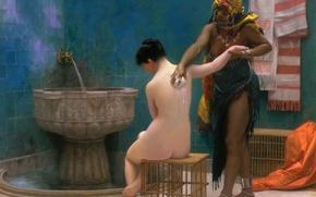 Picture erotic, picture, genre, Jean-Leon Gerome, Bath