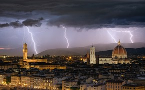 Picture Italy, Florence, florence, architecture, lighning