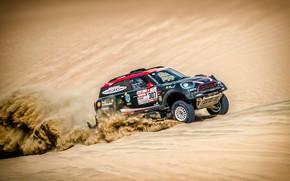 Picture Sand, Mini, Dust, Sport, Desert, Speed, Race, 307, Rally, Dakar, Dakar, SUV, Rally, Dune, X-Raid …