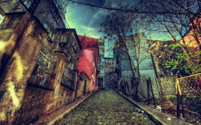 Picture HDR, Street, Building, Istanbul, Turkey, Street, Istanbul, Turkey