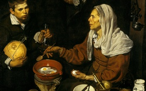 Picture picture, Diego Velazquez, Old Woman Frying Eggs