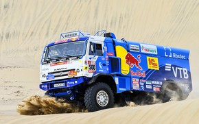 Picture Sand, Truck, Race, Master, Russia, 500, Kamaz, Rally, Dakar, Dakar, Rally, KAMAZ, The front, The …