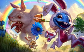 Picture The game, Flower, Rabbit, Smile, Rainbow, Teeth, Costume, Evil, Rainbow, Flower, Mad, Smile, Game, League …