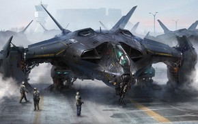 Wallpaper concept art, The Futuristic Art, Aircraft, concept artwork, Alex Deep Shit