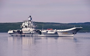 Wallpaper The Northern Fleet, Admiral Of The Fleet Of The Soviet Union Kuznetsov, aircraft carrier, cruiser, ...