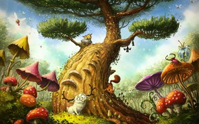 Picture Illustrator, fragment, children's, Magic Tree, As Tomek