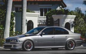 Picture BMW, Sky, Bavaria, E39, Gray