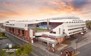 Wallpaper stadium, football, Villa Park, sport, wallpaper, Aston Villa FC, logo