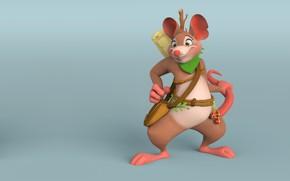Picture figure, Rat, Robin, art. fantasy, Mansoor Mohammed
