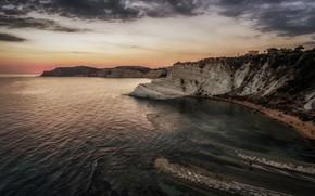 Wallpaper sea, Sicily, rocks, Italy, Realmonte