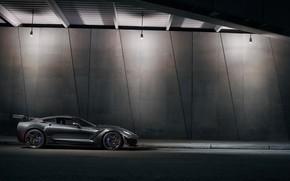 Wallpaper Chevrolet, ZR1, 2019, side view, Corvette