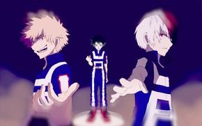 Picture anime, art, guys, Boku no Hero Academy, My hero Academy