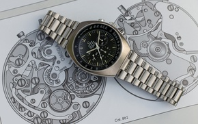 Picture watch, mechanism, dial