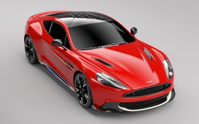 Picture car, Aston Martin, red, logo, wings, speed, Arrow, Aston Martin Vanquish S Red Arrows Edition