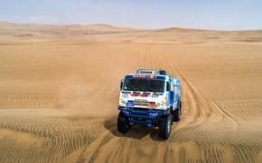Picture Sand, Truck, Race, Master, Russia, Kamaz, Rally, Dakar, Dakar, Rally, KAMAZ, The roads, Master, Contest