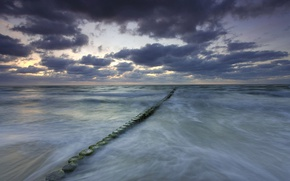 Picture clouds, Germany, The Baltic sea, Mecklenburg-Vorpommern, the breakwater