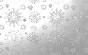 Picture snowflakes, pattern, steel, silver, texture