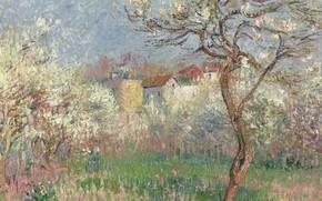 Picture landscape, home, picture, garden, Gustave Loiseau, Gustave Loiseau, Spring. The Surroundings Of PONTOISE