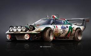 Picture Auto, Figure, Machine, Background, Car, Car, Art, Art, WRC, Lancia, Rally, Rendering, Stratos, Yasid Design, …