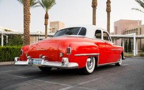 Picture red, design, Chrysler, 1950