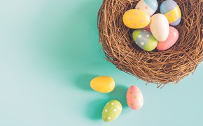 Picture background, eggs, Easter, socket, Holiday