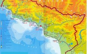 Picture Abkhazia, MAP, map of Abkhazia