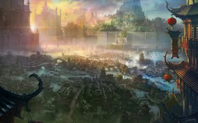 Picture buildings, settlement, Shuxing Li, The xuan empire