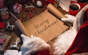 Wallpaper New Year, Christmas, christmas, merry christmas, gift, letter, decoration, xmas, santa