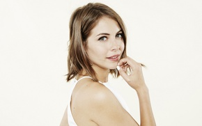 Picture portrait, actress, white background, beauty, Willa Holland, Willa Holland