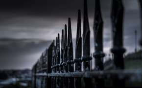 Picture macro, background, the fence