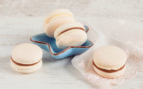 Picture food, cookies, sweet, cream, dessert, macaron