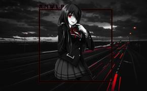Picture girl, anime, night city, date a live, Kurumi Tokizaki, madskillz, Kurumi, Tokizaki Kurumi