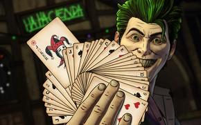 Wallpaper Green hair, Comics, Green hair, Card, Villain, Telltale Games, Villain, Screenshot, Joker, The game, Look, ...