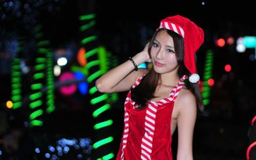 Picture girl, face, costume