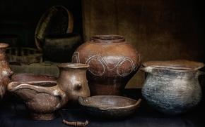 Picture ceramics, dishes, utensils, still life